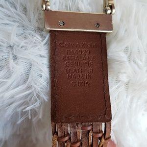 Calvin Klein Accessories - Stylish Calvin Klein weaved leather belt, modern